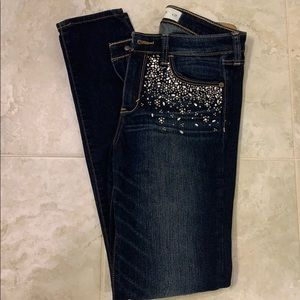 Abercrombie & Fitch diamond embellished jeans 4 27